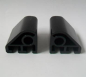 British Standard Plastic Toilet Seat Hinges Black - 03062120